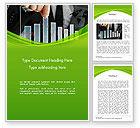 Financial/Accounting: Geschäftsmann hand zieht nach oben spalte der grafik Word Vorlage #14463