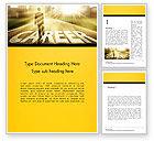 Careers/Industry: Businessman Walking on Great Career Path Word Template #14475