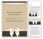 Holiday/Special Occasion: Ornate Beige Ribbon and Elegant Bow Word Template #14484
