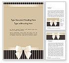 Holiday/Special Occasion: Verziertes beige band und eleganter bogen Word Vorlage #14484