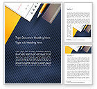 Education & Training: Pencil Ruler and Notebook Word Template #14487