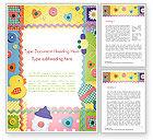 Education & Training: Child Photo Framework Word Template #14493