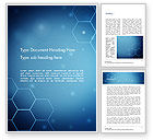Technology, Science & Computers: Blue Hive Background Abstract Word Template #14495