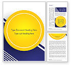Abstract/Textures: Yellow Circle on Blue Background Word Template #14497