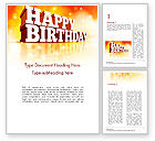 Holiday/Special Occasion: 3D Happy Birthday Text Word Template #14500