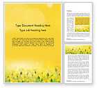 Nature & Environment: Dandelions Flowers on Sunshine Word Template #14503