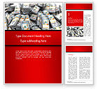 Financial/Accounting: Money Heap Word Template #14504