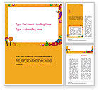 Food & Beverage: Candy Frame Word Template #14511