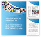 People: Group of Diverse Multiethnic Cheerful People Word Template #14513