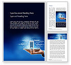 Financial/Accounting: Smartphone Banking Word Template #14518