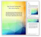 Abstract/Textures: Polygonal Abstract Background with Rainbow Triangles Word Template #14519
