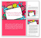 Art & Entertainment: Pink Monster Frame Word Template #14520