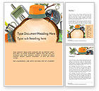 Art & Entertainment: Camping Theme Word Template #14525