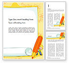Education & Training: School Kids Frame Word Template #14527