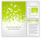 Nature & Environment: Green Spring Background Word Template #14530