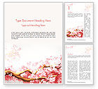 Nature & Environment: Cherry Blossom Word Template #14537