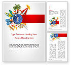 Holiday/Special Occasion: Summer Vacation Accessories Word Template #14563