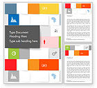 Business Concepts: Squares Background Word Template #14565