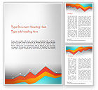 Abstract/Textures: Abstract Area Chart Word Template #14570