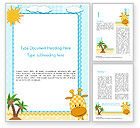 Education & Training: Children`s Photo Framework with Giraffe Word Template #14573