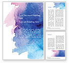 Abstract/Textures: Watercolor Stains Word Template #14579