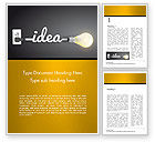 Education & Training: Creative Light Bulb Word Template #14580