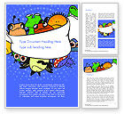Education & Training: Cute Monsters Word Template #14599