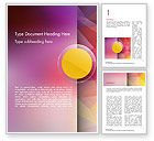 Abstract/Textures: Yellow Circle on Pink Background Word Template #14611