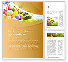 Holiday/Special Occasion: Modelo do Word - cesta com ovos de easter #14618