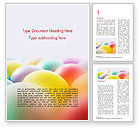 Holiday/Special Occasion: Colorful Easter Eggs Word Template #14620