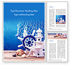 Careers/Industry: Marine Lifestyle Decoration Word Template #14632