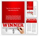 Business Concepts: Winner Word Cloud Word Template #14633