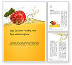 Food & Beverage: Apple With Juice Splash Word Template #14644