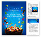 Food & Beverage: Grilling and Roasting Word Template #14649