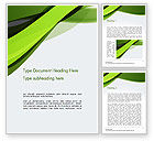 Abstract/Textures: Green and Gray Bands Word Template #14655