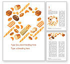 Food & Beverage: Bread Background Word Template #14663