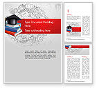 Education & Training: Education Theme Word Template #14665