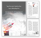 Business Concepts: Hand of a Businessman Holding a Toy Rocket Word Template #14669