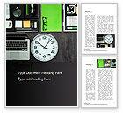 Business Concepts: きちんとしたビジネスデスクトップ - Wordテンプレート #14672
