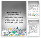 Business Concepts: Creative Process Line Design Word Template #14677