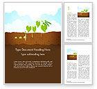 Agriculture and Animals: Modello Word - Illustrazione della crescita di piante di piselli #14680
