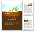 Agriculture and Animals: エンドウ豆植物の成長イラスト - Wordテンプレート #14680