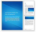 Abstract/Textures: Plain Blue Background Word Template #14683