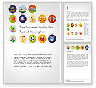 Sports: Barbecue and Picnic Icons Word Template #14697