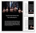 Business Concepts: いいぞ - Wordテンプレート #14701