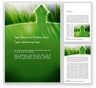 Nature & Environment: Green House Outline Word Template #14702