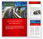 Business Concepts: De Zakenman Tegenover Verschillende Wegen Word Template #14704