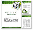 Sports: Splash Football Background Word Template #14706