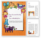 Holiday/Special Occasion: Lovely Children Frame Word Template #14714