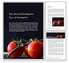 Agriculture and Animals: Wet Tomatoes Word Template #14715